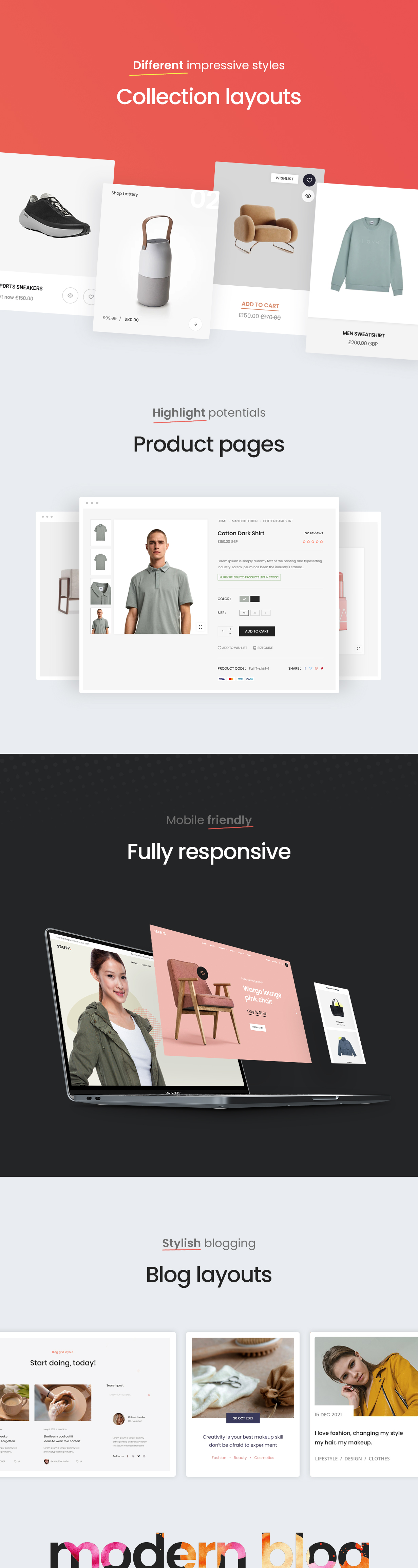 Staffy – The Responsive Multipurpose Shopify eCommerce Theme, Gobase64